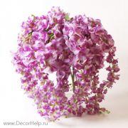 глициния розовая, искусственные текстильные цветы для свадебного декора купить в москве